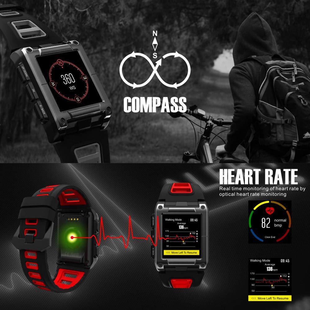 Lovewe Professional IP68 Waterproof Swimming Smart Watch Fitness Tracker Bluetooth GPS Wristband Colorful UI (Black) by Lovewe_Smart Watch (Image #4)