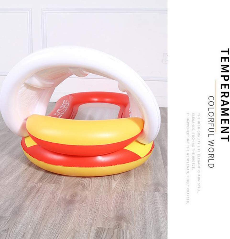 Chaise Longue Flottante Gonflable Polyvalente pour Lit De Flotteur deau Piscine avec Parasol Flotteur De Piscine pour Adultes avec Auvent Ounger Chaise Longue pour Hamac deau