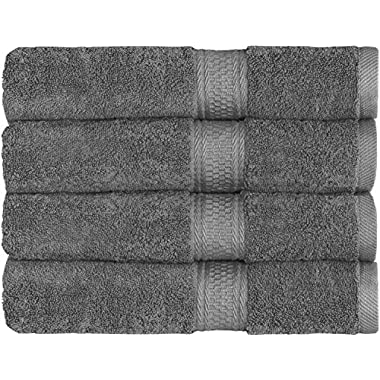 700 GSM Premium Hotel & Spa Towels Set (Grey, 4 Pack, 27  X 54 ) - Cotton for Maximum Softness and Absorbency by Utopia Towels