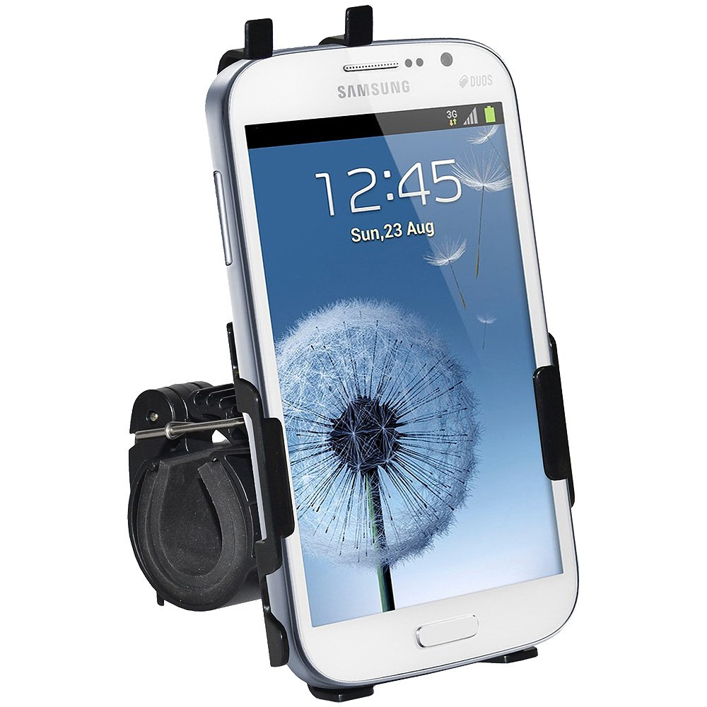 Amzer AMZ95702 Bicycle Bike Handlebar Holder Mount for Samsung GALAXY Grand GT-I9080//Grand Duos GT-I9082 Black Retail Packaging