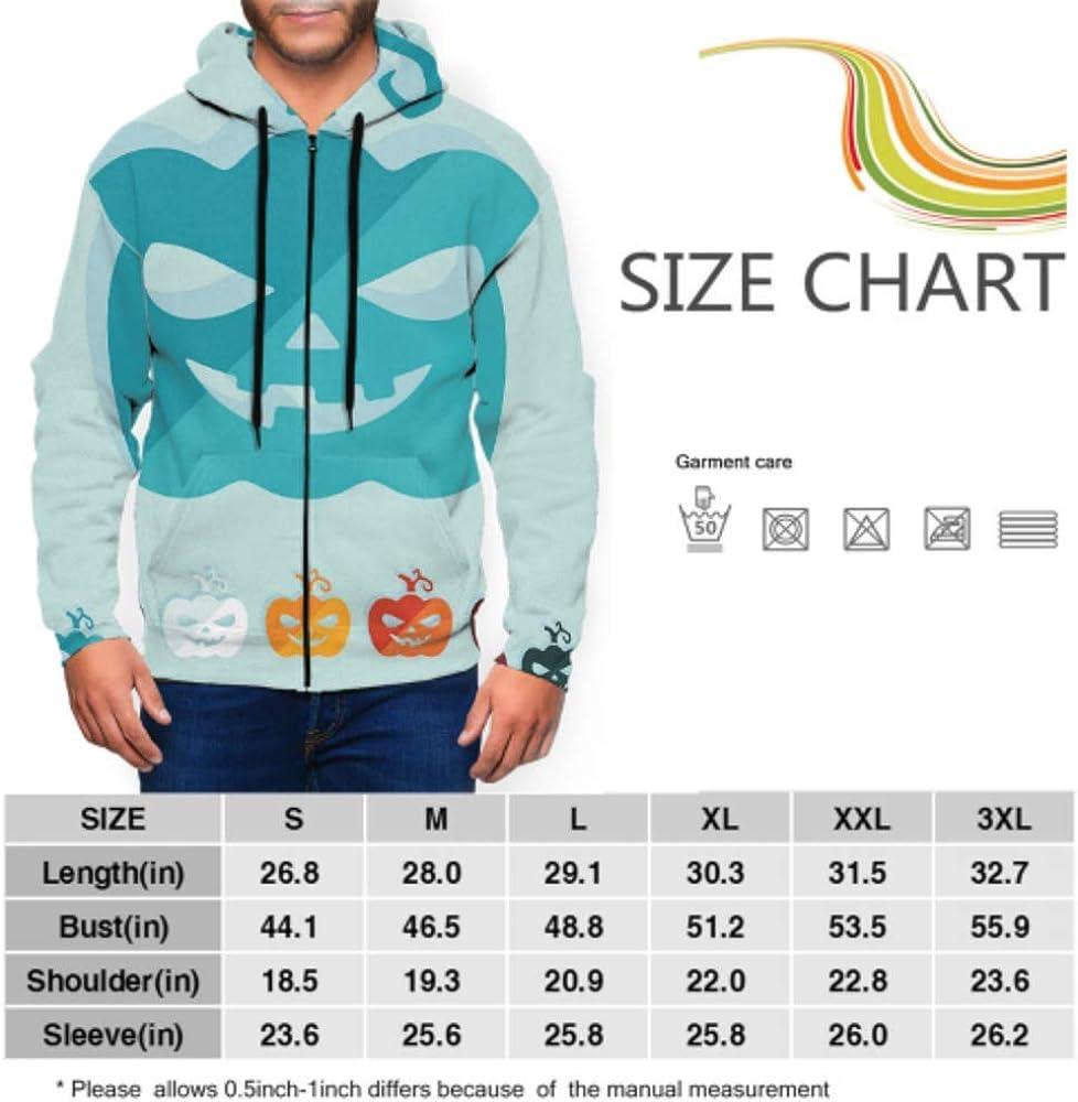 GUJGK Long Sleeve Hoodie Print Flat Design Spider Jacket Zipper Coat Fashion Mens Sweatshirt Full-Zip S-3xl