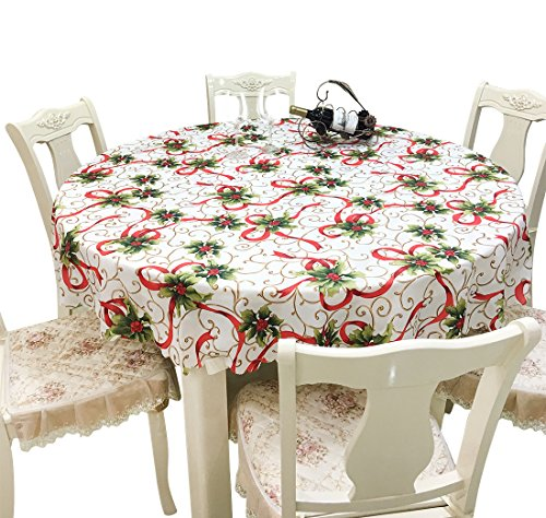 Tablecloth of Ribbons Printed Fabric Two Styles of Square Round by MoModer