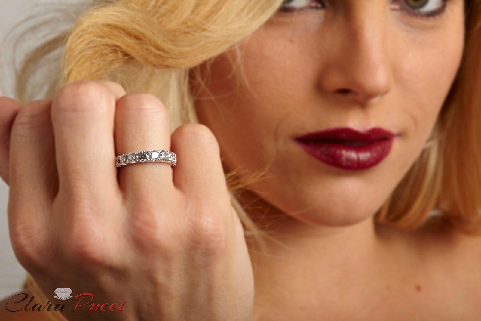 Clara-Pucci-14-CT-Round-Cut-Pave-Set-Bridal-Wedding-Engagement-Band-Ring-14kt-White-Gold