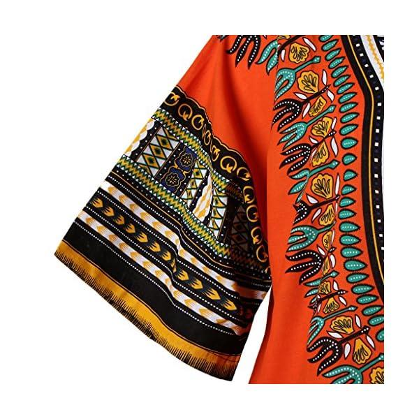 Blesiya Etnico Cappotto Stampe Africane Camicie T-shirt di Cotone
