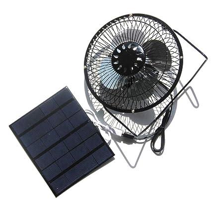Nuzamas - Ventilador solar de 3,5 W 6 V para camping, caravana,