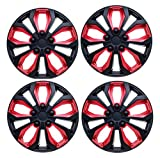 """SUMEX 5070138b 15"""" Hubcap (CAR+ """"SPA"""" ABS Red and Black)"""