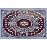 Sunshine Joy Grateful Dead Dancing Bear Tapestry Blue & Purple 30x45 Inches