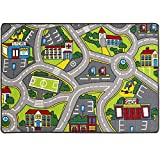 Learning Carpets City Life Play Carpet 5' x 7' New Kids Rugs Great for Playing with Cars & Toys - Play Safe (Street map # 4) & Have Fun -Ideal Gift for Children Baby Bedroom Play Room Game Play Mat
