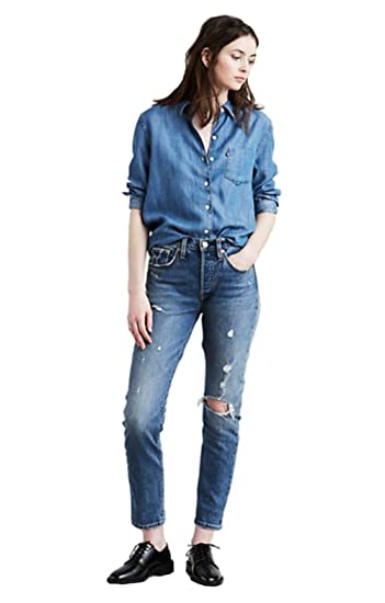 e48e14f290a Levi's 501 Customized Skinny 56771 Jeans Women: Amazon.co.uk: Clothing