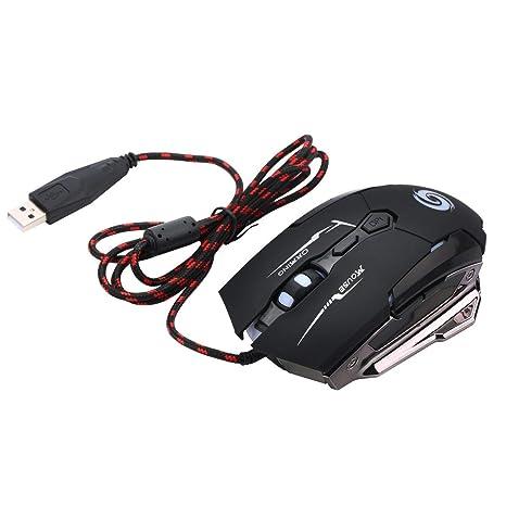 Gugutogo Protable Ligera Mini ratón óptico del Juego Ratones para PC portátil de bajo Consumo de