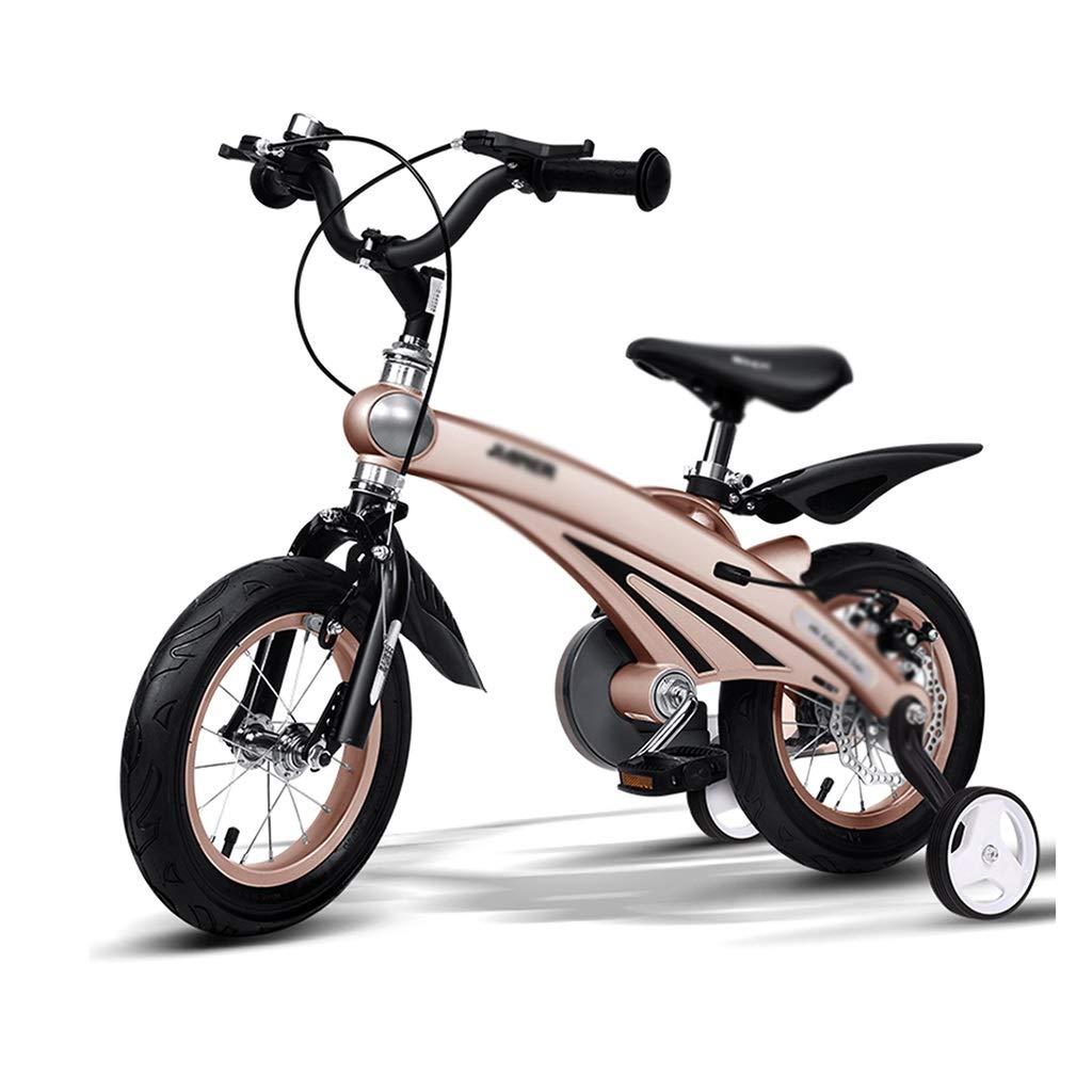 Bicicletas montaña Estudiante Niño Freno de Disco de Seguridad 12/14/16 Pulgada (Color : Beige, Size : 14inch(76  38  98cm))