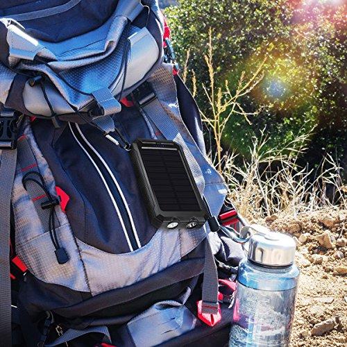 Amir Solar Power Bank Portable Solar Charger 10000mah For