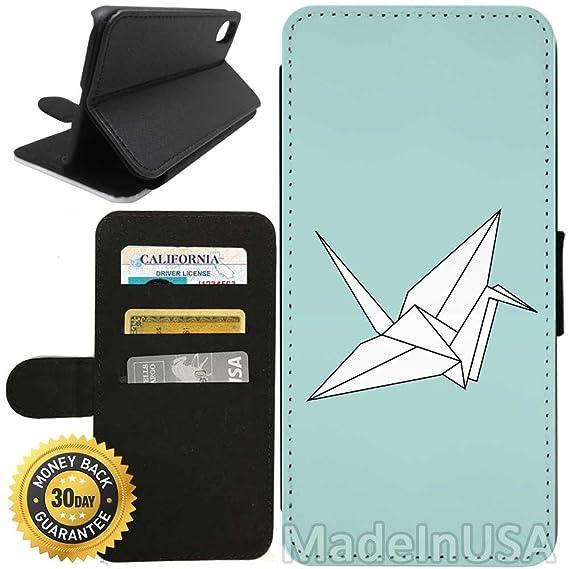 Amazon com: Flip Wallet Case for iPhone X/10 (Origami Crane
