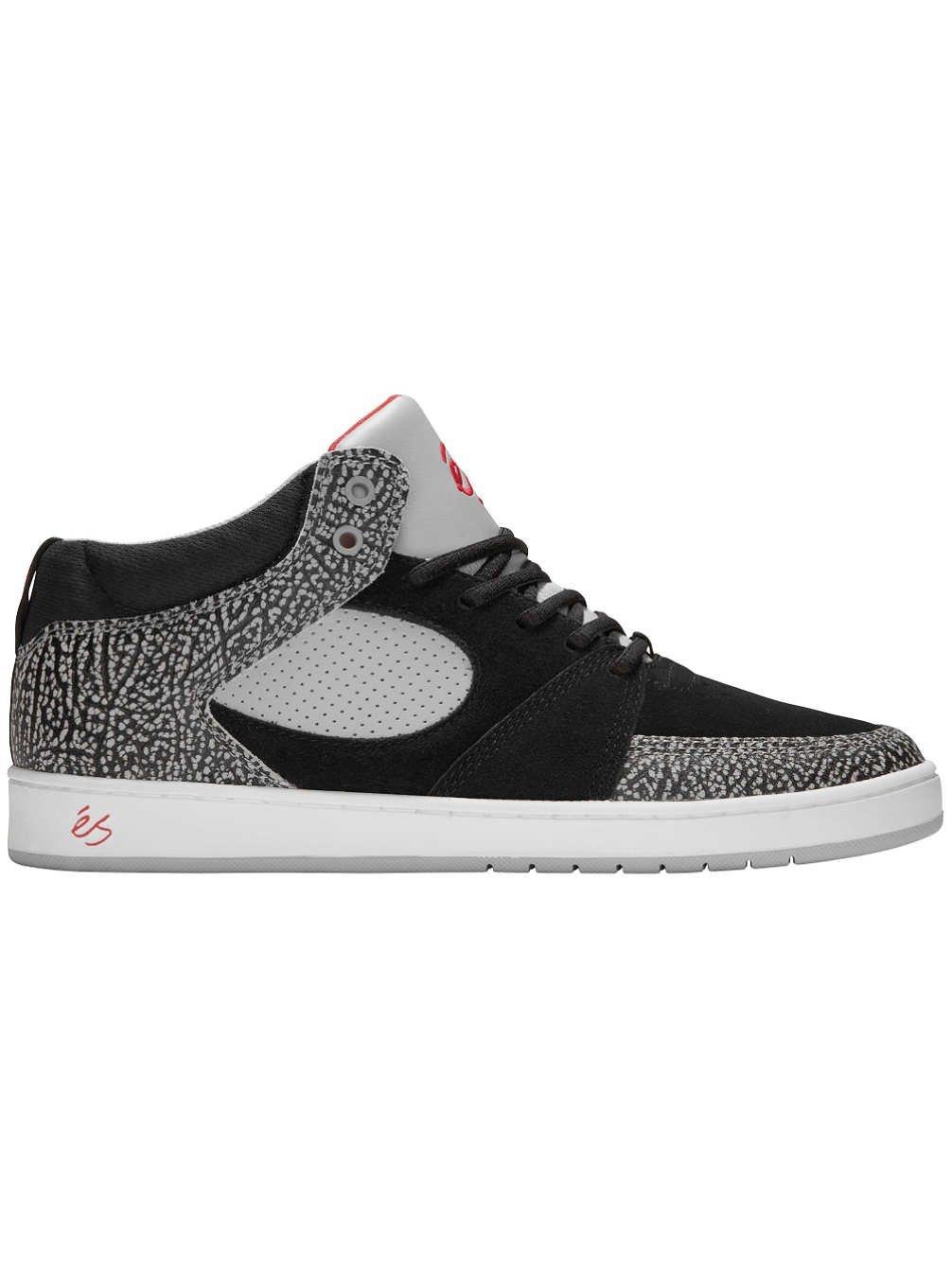 eS Accel Slim Mid Skate Shoes in Black Grey 8 D(M) US Black Grey