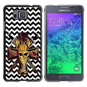 Dragon Case - FOR Samsung ALPHA G850 - Stop thinking too much - Caja protectora de pl??stico duro de la cubierta Dise?¡Ào Slim Fit