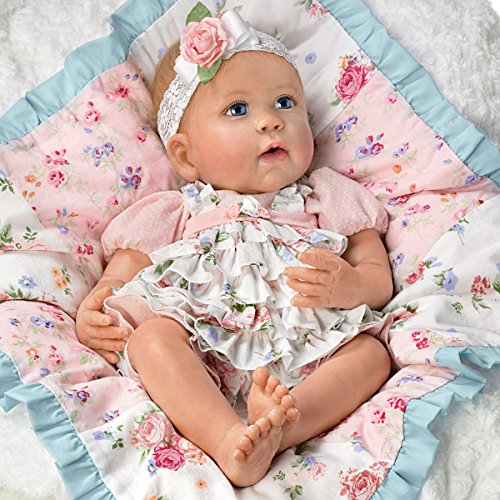 Ashton Drake Lifelike Baby Doll By Linda Murray With Quilt And Basket by The Ashton-Drake Galleries (Image #1)