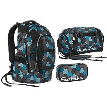 24f86368053ab Satch Pack by Ergobag - 3 tlg. Set Schulrucksack - Ocean Flow ...