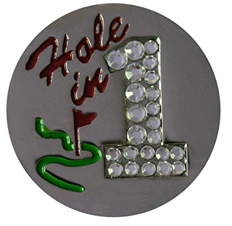 Image Unavailable. Image not available for. Color  Be The Ball 4U Swarovski  Hand Painted Hole in One-Nickel Golf Ball Marker With e09ae9b63e18