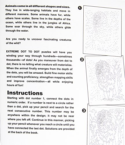 Amazon.com: MindWare Extreme Dot to Dot Animals Book Puzzles Range ...