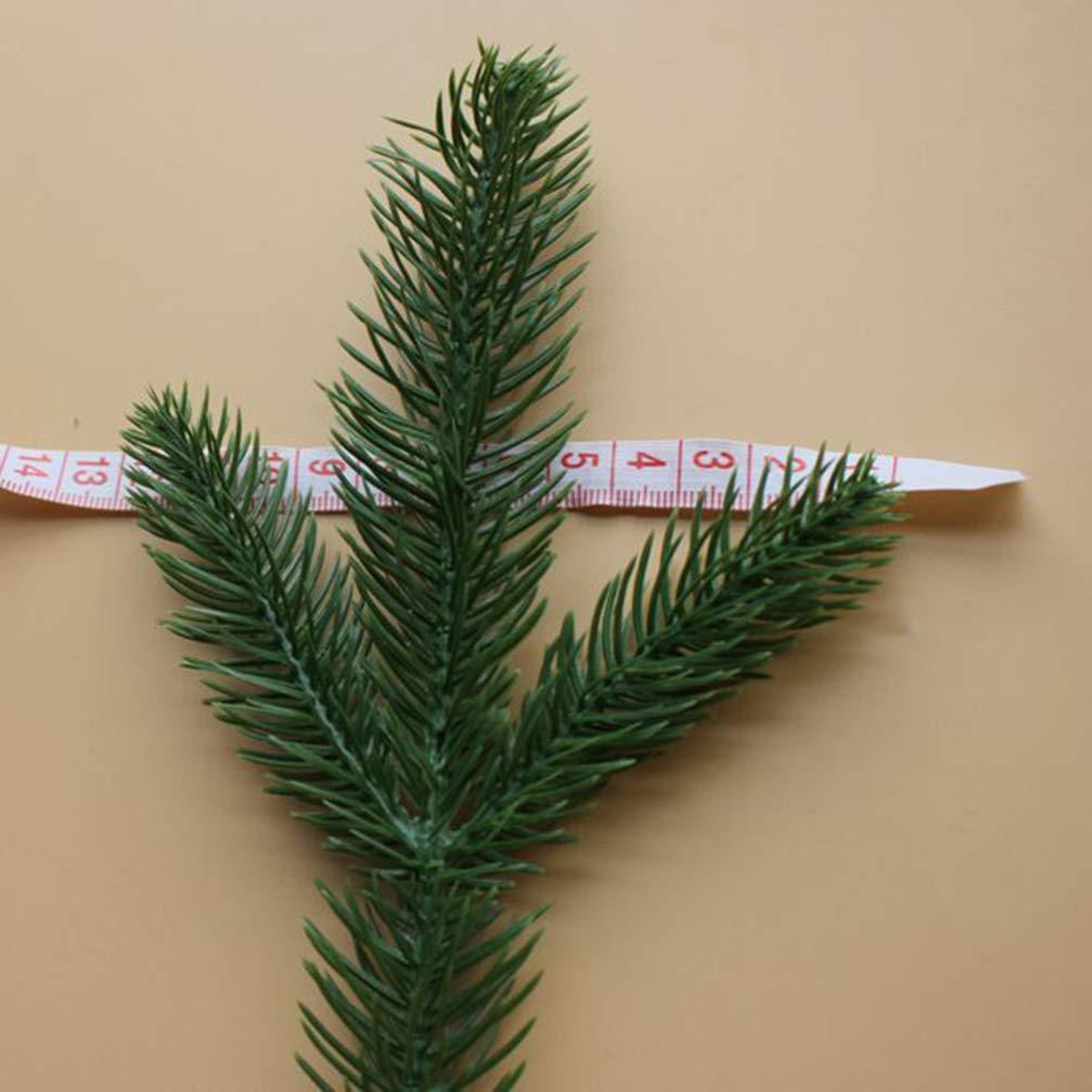 VOSAREA Pini Artificiali 10 Pezzi Rami di Pino Pianta Simulata Raccolta di Pino Decorazione Natalizia Fai da Te Arredamento per Casa Albero di Natale