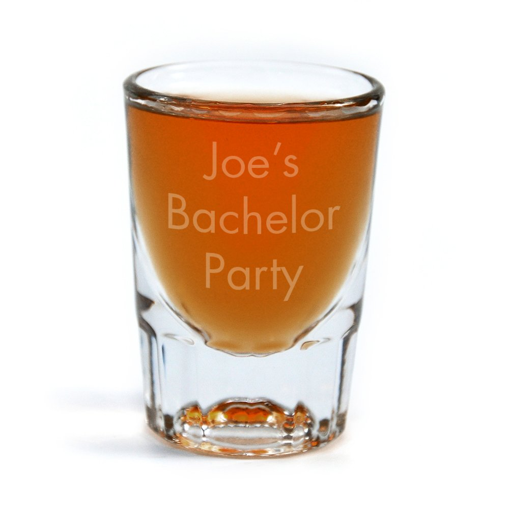Amazon com personalized shot glass engraved with your custom text shot glasses