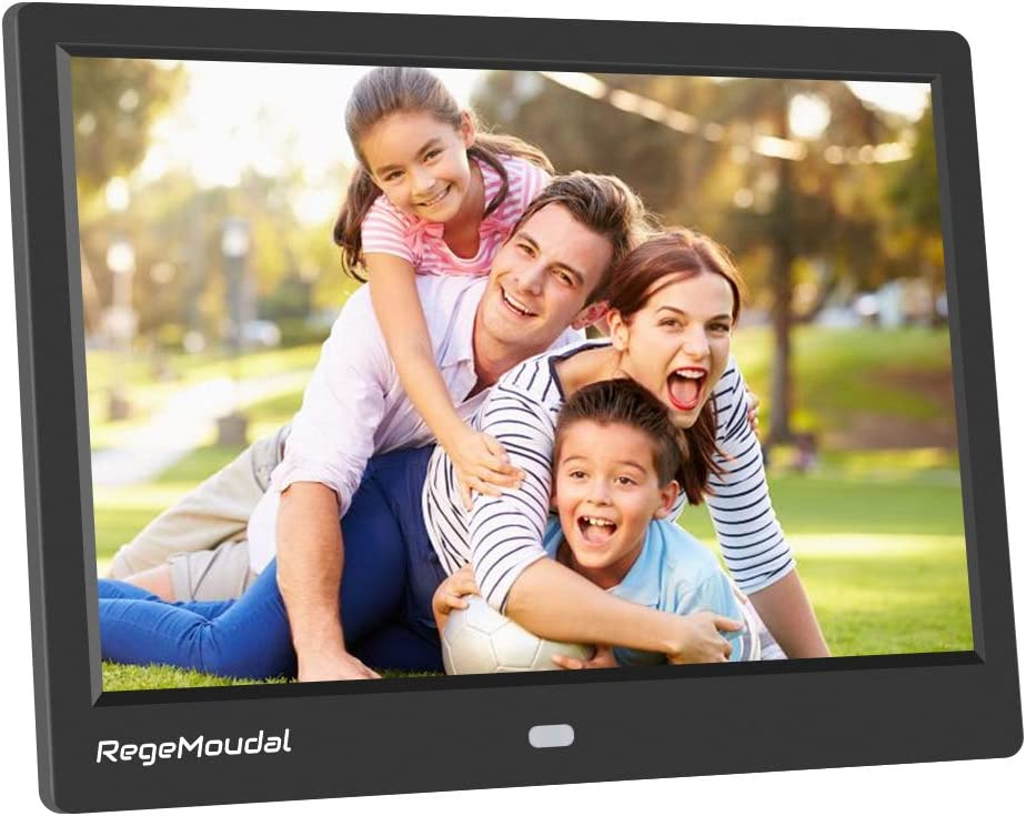 10 Inch Digital Photo Frame, RegeMoudal 1280800 IPS LCD Panel Smart Digital Picture Frame, Remote Control, Wall-Mountable, Portrait and Landscape, Support SD Card USB (Black) 61nCZxtLqrLSL1001_