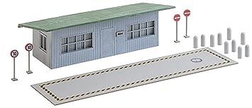 Faller FA 130172 – Báscula para Camiones con Oficina Edificios, Accesorios para el Diseño de