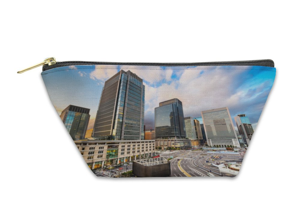 Gear New Accessory Zipper Pouch, Business District In Tokyo, Large, 5910697GN