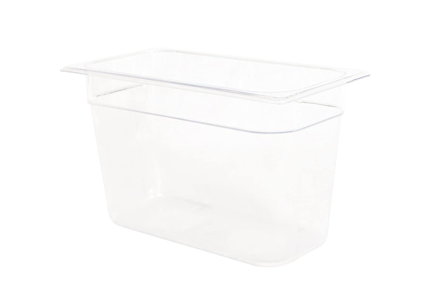 Rubbermaid Commercial Products Cold Food Pan, 8 Deep Pan, 1/3 Size, Clear (FG119P00CLR) 8 Deep Pan C-OR-RB-F558
