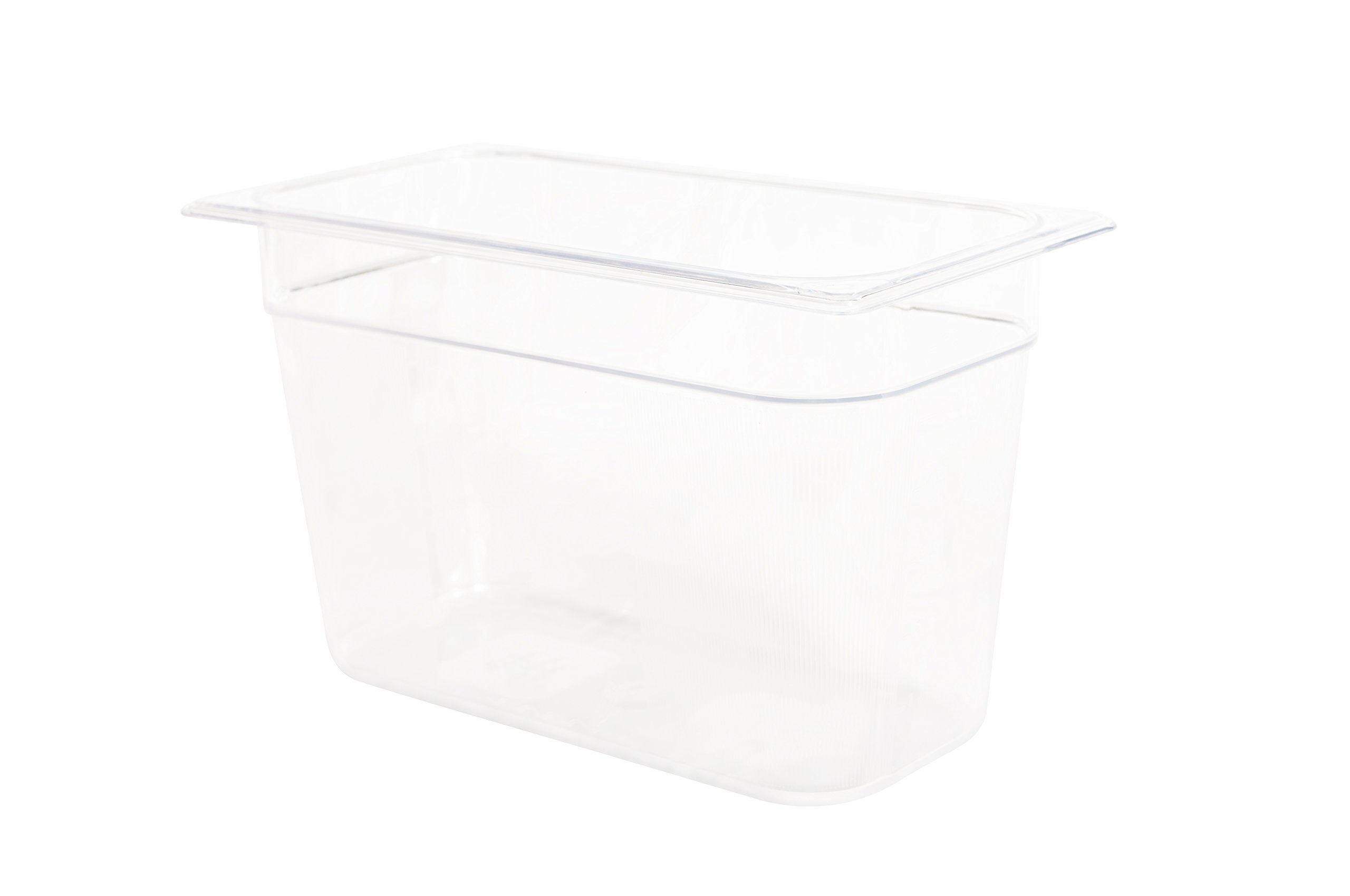 Rubbermaid Commercial Products Cold Food Pan, 8'' Deep Pan, 1/3 Size, Clear (FG119P00CLR)