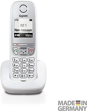 Gigaset A415- Teléfono inalámbrico sin contestador automático (teléfono DECT con función manos libres, pantalla gráfica y fácil manejo) blanco: Amazon.es: Electrónica