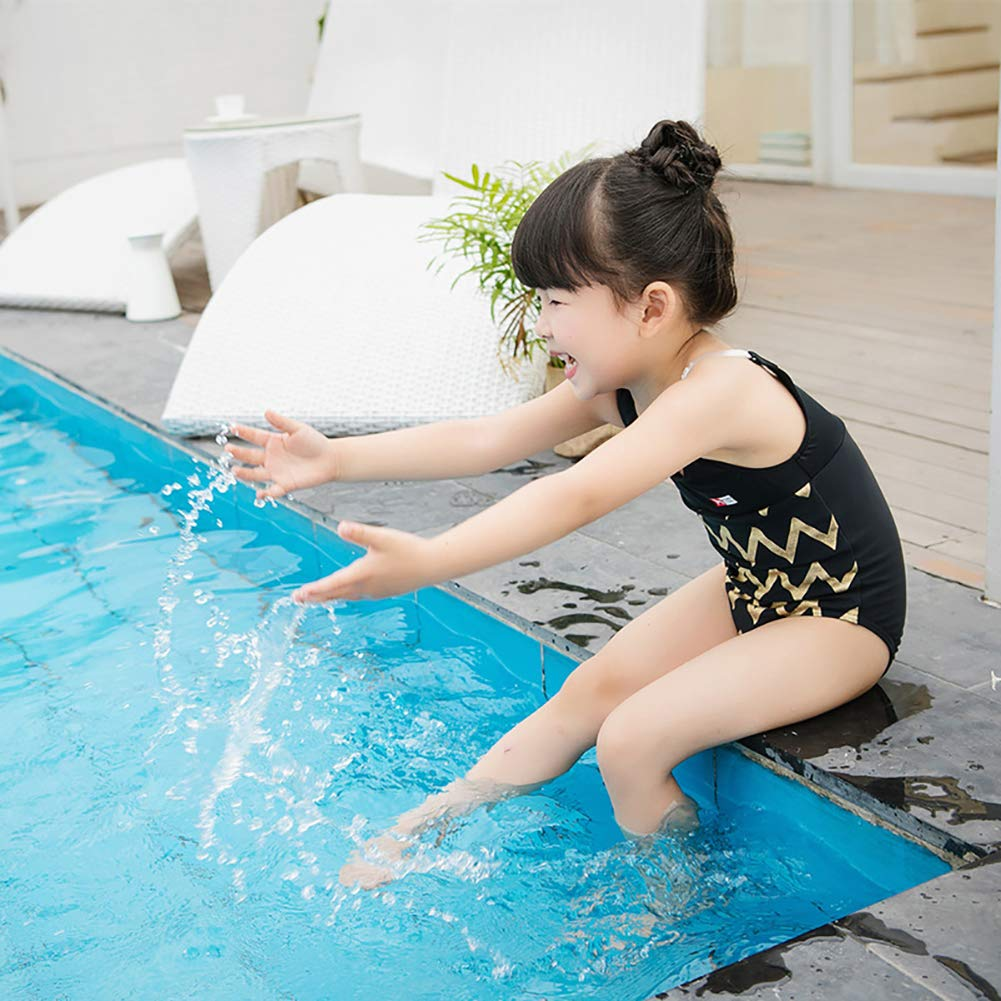 Softmusic Children Baby Girls Wavy Stripe Summer Beachwear One-piece Swimsuit