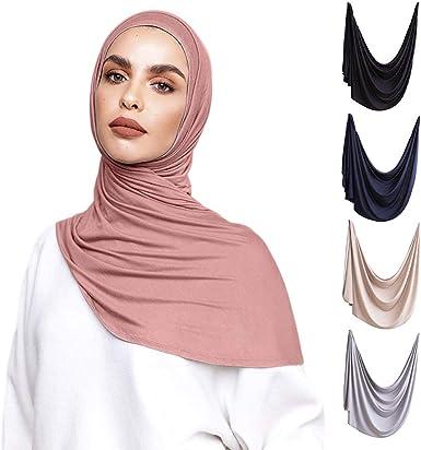 Hijab Einteiliges Kopftuch Viskose fertig zum Aufh/ängen.