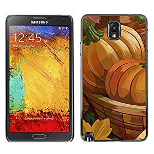 XYTE Slim Case Cover Backcover Frame Shell Samsung Galaxy Note 3 III // Halloween Pumpkin Art //