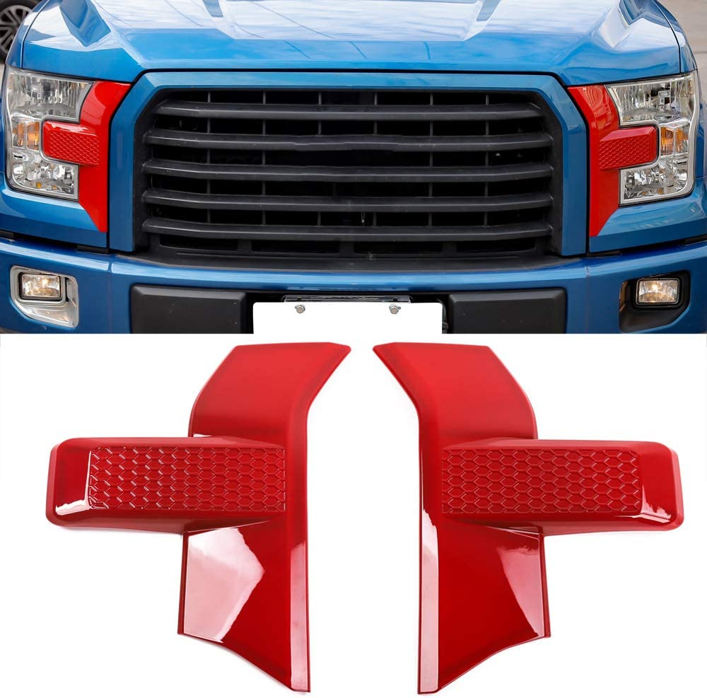 Red Ford F150 Accessories Car Front Bumper Headlight Grille Cover Trim for 2015