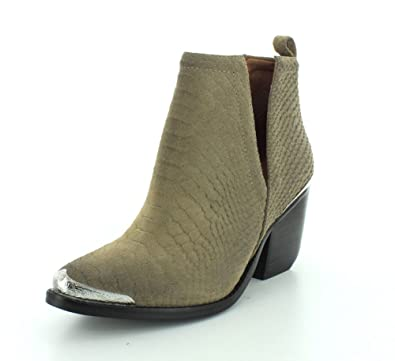 Womens Cromwell Khaki Matte Snake Boot - 8.5