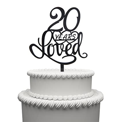 Amazon 20 Years Loved Cake Topper For Birthday Or 20TH