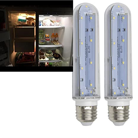2pcs/Pack 60 Watt Equal LED Tubular Light Bulb  Medium Screw E26 Base,