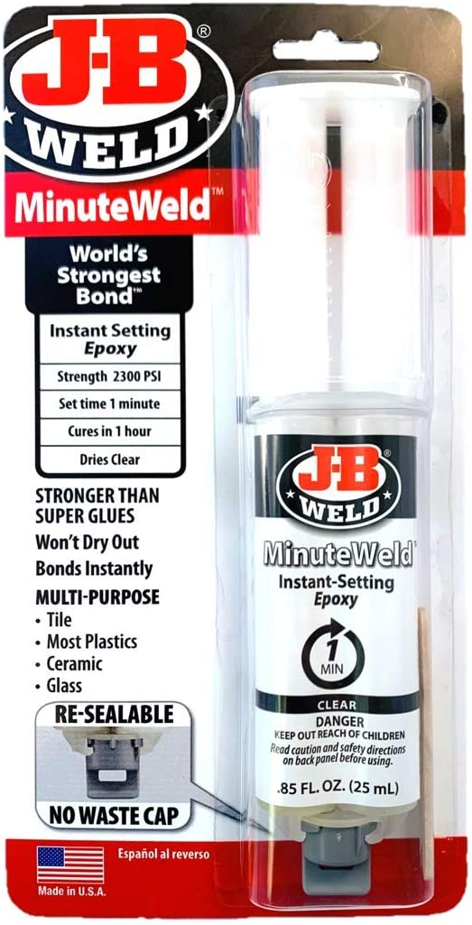 JB Weld 50101 MinuteWeld Jeringa, Transparente, 25 Milliliter
