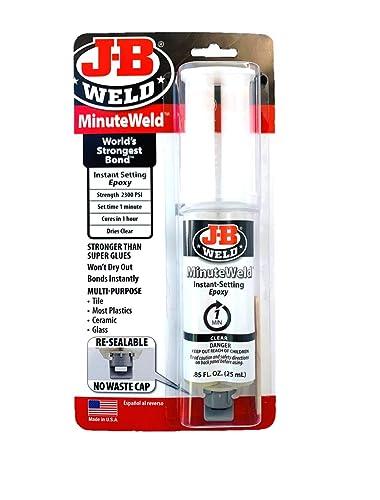 J-B Weld 50101 MinuteWeld Jeringa epoxi de fraguado instantáneo