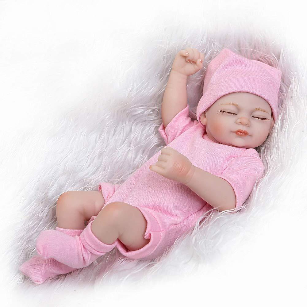 Hecha a Mano Realista de la muñeca en Rosa de Punto Vestimenta y Accesorios / de los niños Mejor cumpleaños / Recuerdos / Rosado Suave