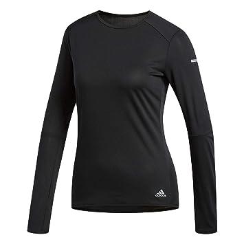 adidas Run LS W, T-Shirt A Manica Lunga Donna, Black, XL ...
