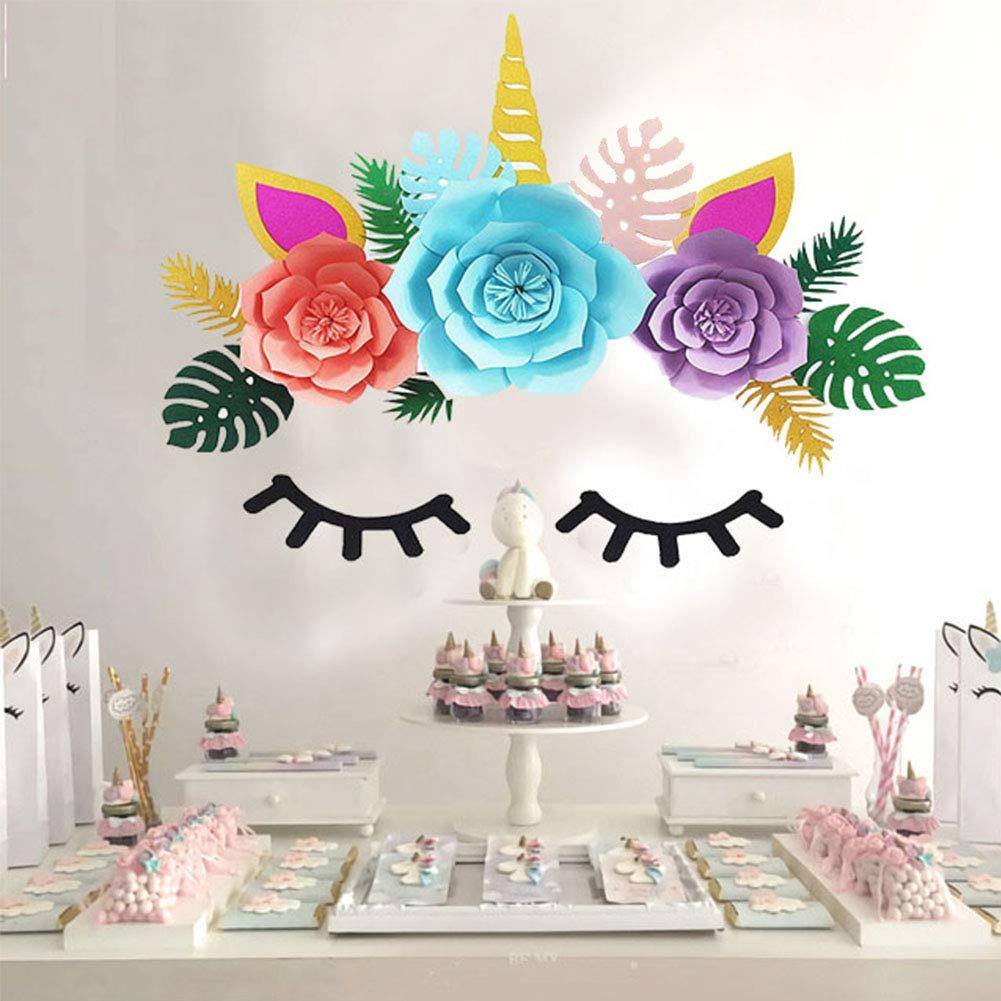 LongcMall Decoración de Unicornio Fiesta, DIY Decoración de ...