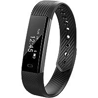REDGO Wireless Activity and Sleep Monitor Pedometer Smart Fitness Tracker Wristband Watch Bracelet for Men Women Boys Girls Ladies Man iPhone 6 Plus 5S 5C 5 4S, Galaxy S6 S5 S4 S3, Note 6 5 4