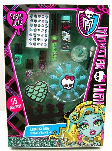 Monster High Makeup Sets (Monster High Makeup Set - Lagoona Blue Fintastic Beauty Set 55 Pieces)