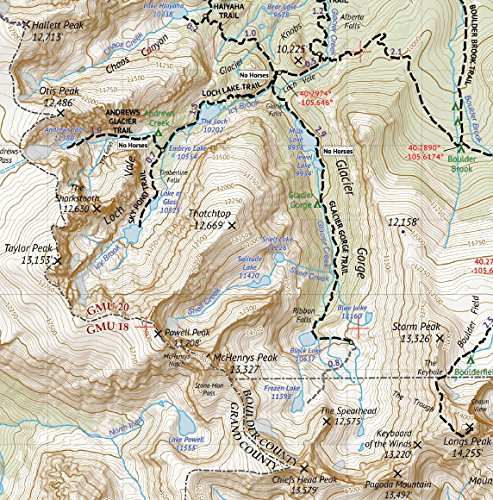 2018 Topographic Hiking Map Topographic Maps Rocky Mountain ...