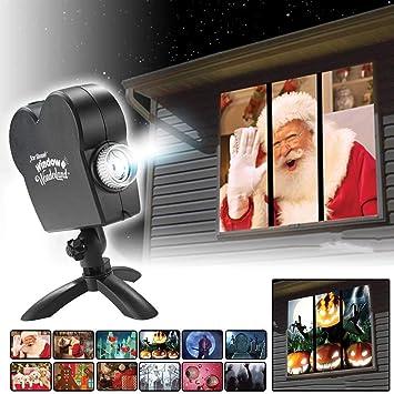 Halloween Navidad Proyector de Ventana,Doble proyector Estrella ...