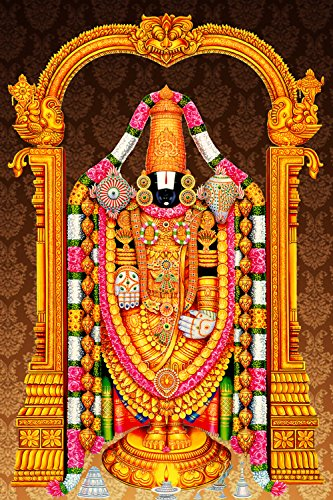 Art Factory Tirupati Balaji - Lord Venkateswara Cotton Canvas Painting(1oz,  Multicolour)
