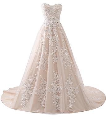 Erosebridal Charmant Schatzapplique Spitze Vintage Brautkleid 2018 ...