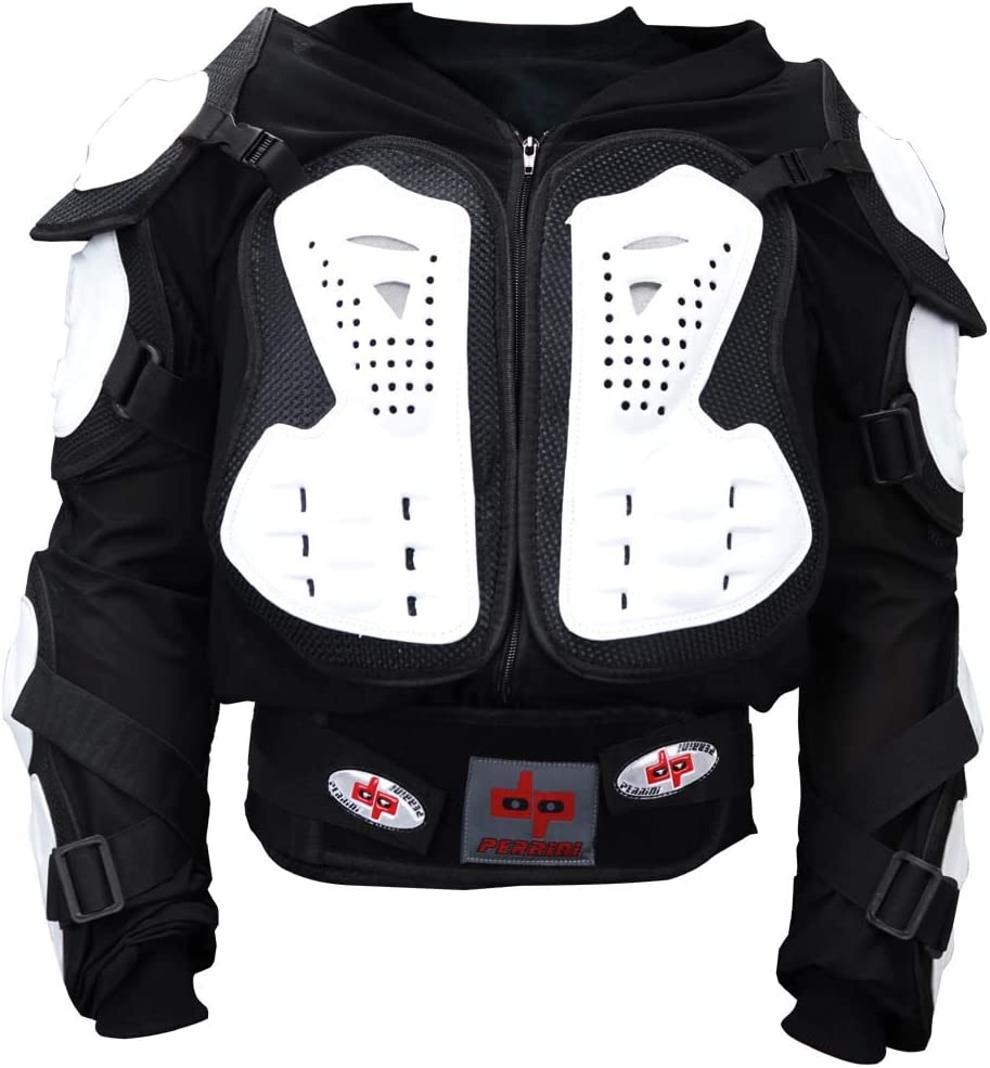 Perrini Green CE Approved Full Body Armor Motorcycle Jacket Night Visibility